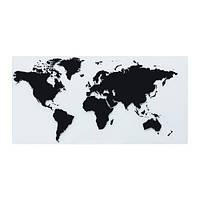 """ИКЕА """"ТУРФИН"""" Столешница, карта мира 160x81 см"""