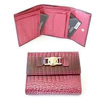 Портмоне Versace женское лаковое бордовый