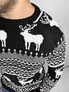 Мужской свитер с зимним принтом, Турция (две модели), фото 3
