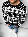 Мужской свитер с зимним принтом, Турция (две модели), фото 8