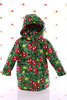 Куртка Евро для мальчика Spiderman зеленая (размеры 92, 98, 104 и 116)