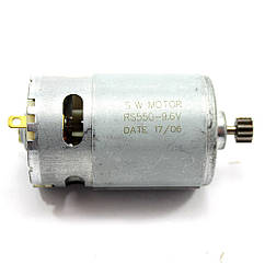 Двигатель шуруповерта 9,6V d37 h57 вал 75мм, шестерня 12 зубов