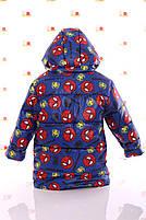 Куртка Евро для мальчика Spiderman синяя (размеры 92, 98, 104 и 116), фото 4