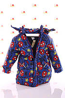 Куртка Евро для мальчика Spiderman синяя (размеры 92, 98, 104 и 116), фото 2