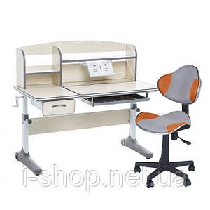 Растущий комплект для школьников парта Cubby Ammi Grey + компьютерное кресло LST3 Orange-Grey