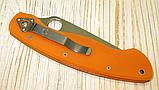 Нож Spyderco Military оранж реплика, фото 4