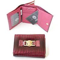 Портмоне Versace женское лаковое  цвет бордовый