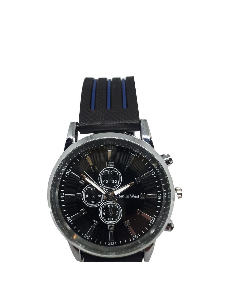 Часы молодежные мужские Camilo West на силиконовом ремешке. Синий