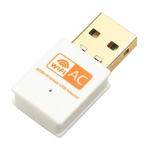 Wifi адаптер REALTEK 8811CU 5Ghz/ 2.4 Ghz двохдіапазонний 600 Mbps OEM Білий