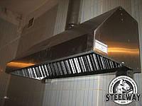 Зонт вытяжной пристенный с жироулавливателем 1200*800.