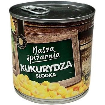 Nasza Spizarnia Kukurydza Slodka — консервована солодка кукурудза, 340 гр. Польща