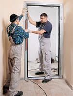 Монтаж входной двери металлической