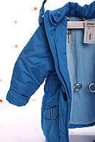 Куртка Евро для мальчика темно-бирюзовая (размеры 92, 98, 104 и 116), фото 2