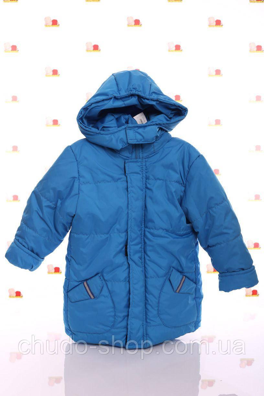 Куртка Евро для мальчика темно-бирюзовая (размеры 92, 98, 104 и 116)