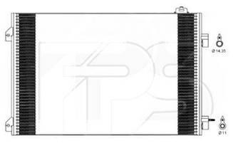 Радиатор кондиционера Рено Клио/Симбол / RENAULT CLIO/SYMBOL (1998-2008)