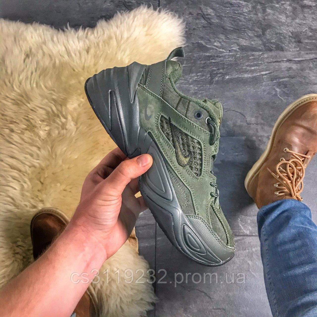 Женские кроссовки  Nike M2K Tekno Linen Green (зеленые)