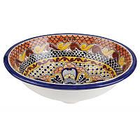 Росписная мексиканская раковина врезная для ванной комнаты, в наличии большой выбор на складе.