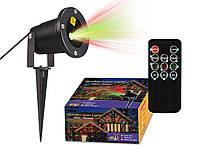 Праздничный ,точечный лазерный проектор, металлический корпус+ пульт(авто выкл. в светлое время суток), фото 1