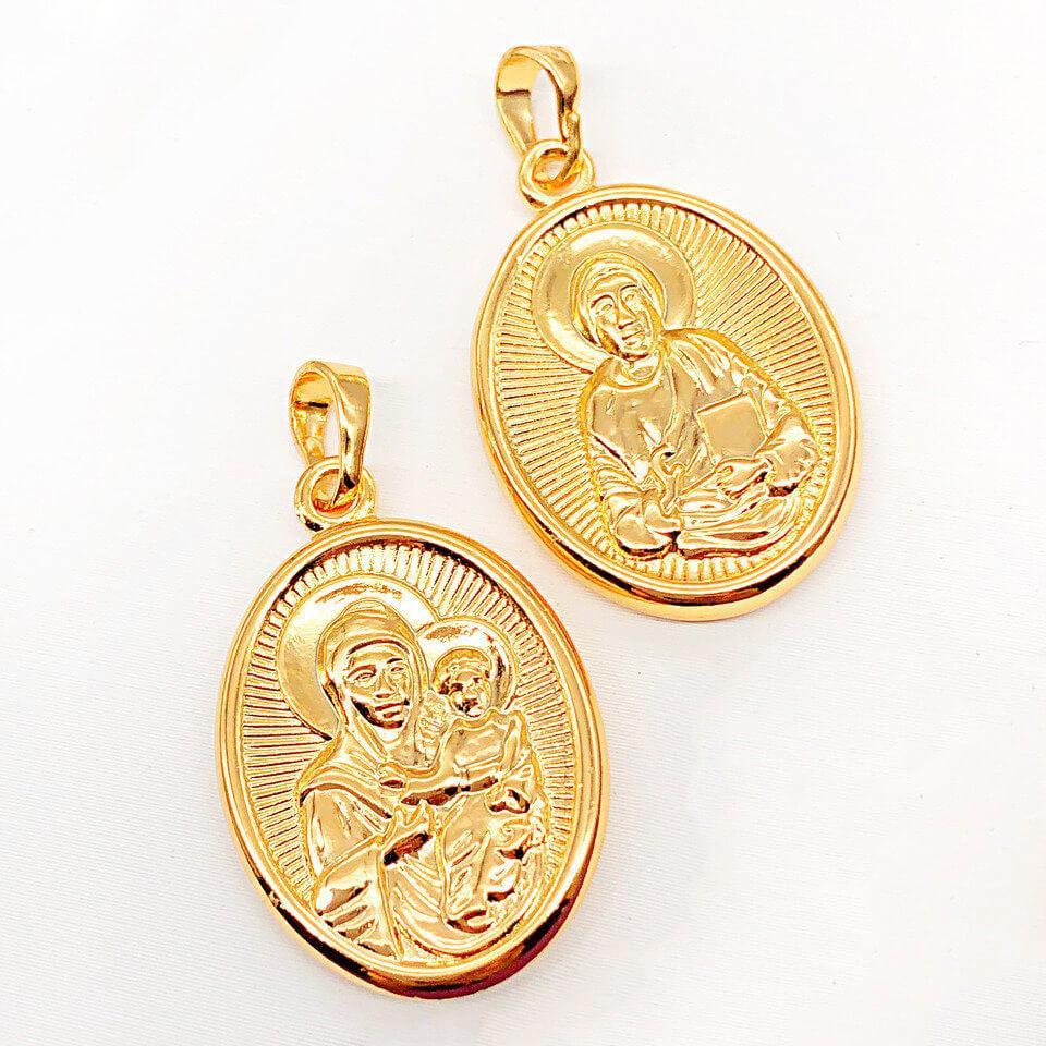 Ладанка Xuping Jewelry Двухсторонняя медицинское золото, позолота 18К. А/В 4567