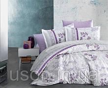 Комплект постельного белья из фланели полуторный размер ТМ Aran Clasy LAVENDA