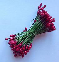 Тычинки глянцевые цвет рождественский красный