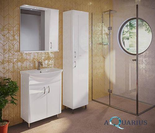 Зеркало Аквариус Жако со шкафчиком и подсветкой 70 см, фото 2