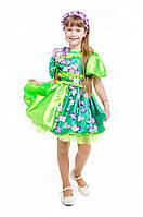 Детский карнавальный костюм для девочки Весна «Цвет вишни» 115-125 см, зеленый, фото 1