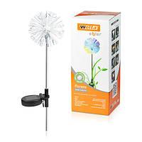 Садовый светильник Wolta Solar , нерж. сталь, пластик,   Цветок 70см, цветной Florens