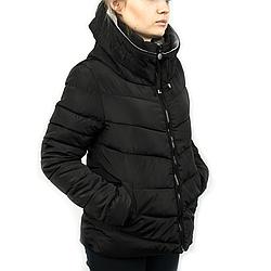 Женская Куртка Короткая Весна M (46-48) (WO001) Черная