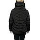 Женская Куртка Короткая Зима-Осень M (46-48) (WO001) Черная, фото 4