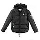 Женская Куртка Короткая Зима-Осень L (50) (WO005) Черная, фото 5