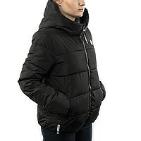 Женская Куртка Короткая Зима-Осень XXXL (WO005) Черная