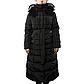 Женская Курточка Длинная Зимняя M (48) (WO002) Черная, фото 2