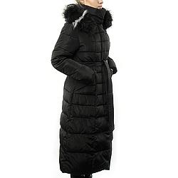 Женская Курточка Длинная Зимняя M (48) (WO002) Черная