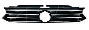 Решетка Вольксваген Пассат B8 радиатора черн. глянец с хром. молдингами / VOLKSWAGEN PASSAT B8 (2014-)