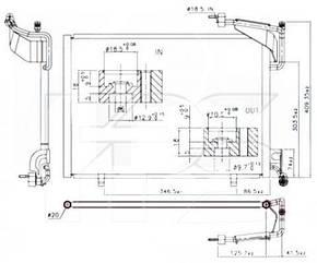 Радиатор кондиционера Форд Транзит Коннект / FORD TRANSIT CONNECT (2014-)