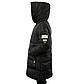 Женская Курточка Длинная Зимняя M (48) (WO004) Черная, фото 3