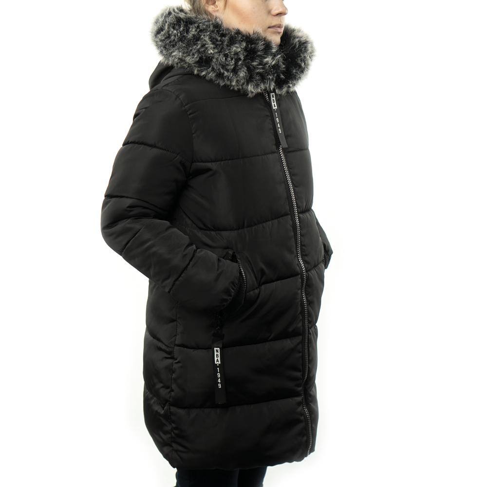 Женская Курточка Длинная Зимняя M (48) (WO004) Черная