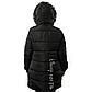 Женская Курточка Длинная Зимняя M (48) (WO004) Черная, фото 5