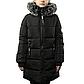 Женская Курточка Длинная Зимняя M (48) (WO004) Черная, фото 2