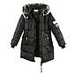 Женская Курточка Длинная Зимняя M (48) (WO004) Черная, фото 6
