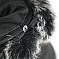 Женская Курточка Длинная Зимняя M (48) (WO004) Черная, фото 8
