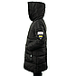 Женская Курточка Длинная Зимняя XL (52) (WO004) Черная, фото 3