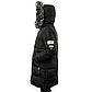 Женская Курточка Длинная Зимняя XL (52) (WO004) Черная, фото 4