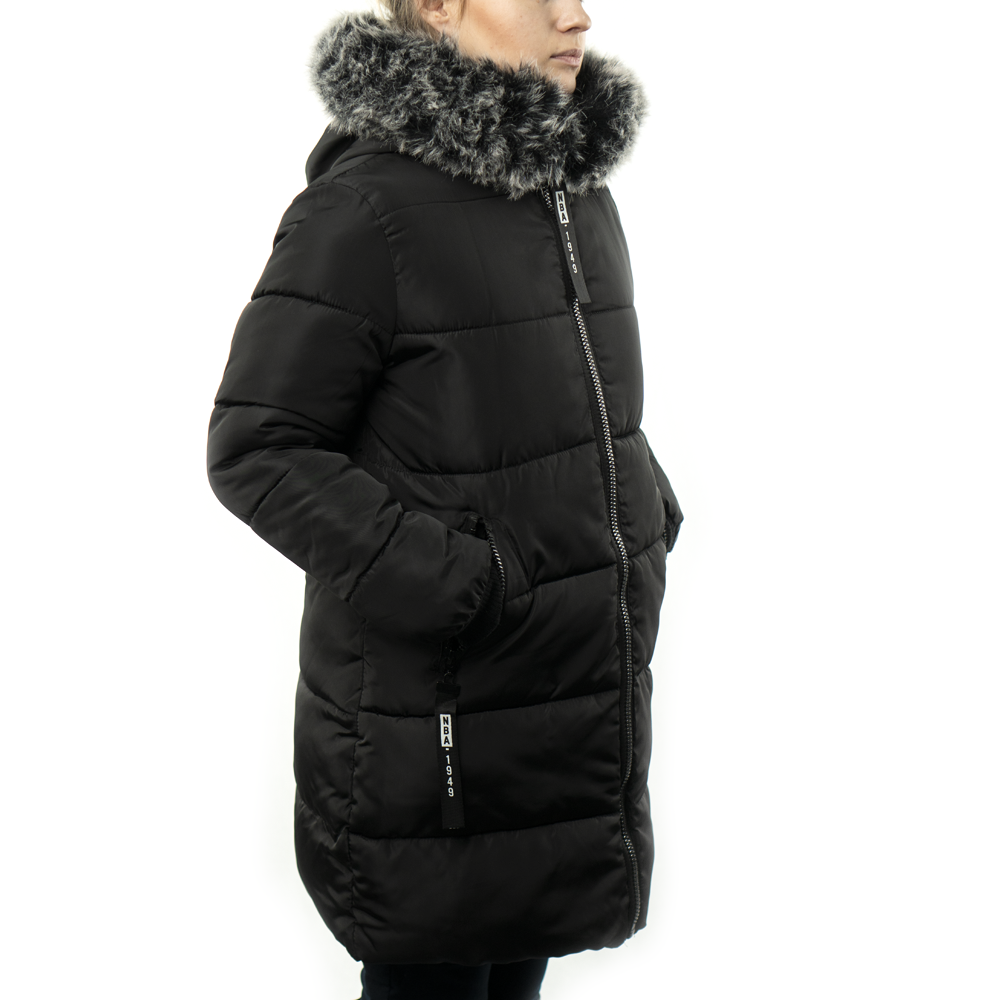 Женская Курточка Длинная Зимняя XL (52) (WO004) Черная