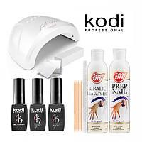 Стартовый набор гель-лаков Kodi (с LED+UV лампой SUN One 48W) StSKd-48