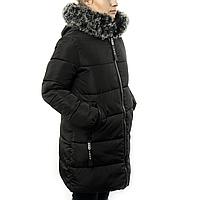 Женская Курточка Длинная Зимняя XL (52-54) (WO004) Черная