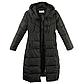 Женская Курточка Длинная Зимняя L (48-50) (WO905) Черная, фото 5