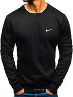 Мужской свитшот Nike черный (маленькая эмблема) реплика