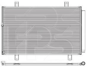Радиатор кондиционера Тойота HIGHLANDER / TOYOTA HIGHLANDER (2007-2013)